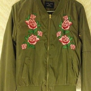 Green flowered jacket from forever 21!